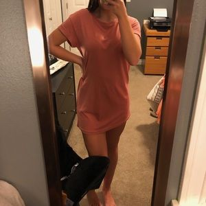 Blush pink T-shirt dress!